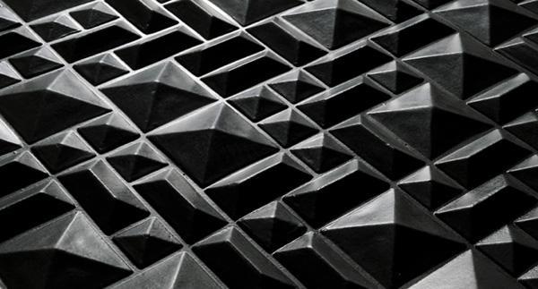 Piastrelle tridimensionali Cemento 14 Wall Piramidi di 14oraitaliana
