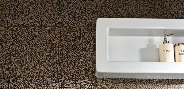 Piastrelle tridimensionali per cucina City di Ceramiche LEA