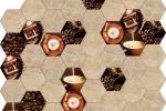 Piastrelle esagonali da cucina con caffè di Ceramiche Da Vinci