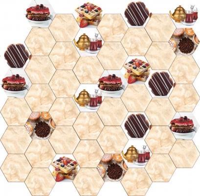 Piastrelle esagonali da cucina con cupcakes, by Ceramiche Da Vinci