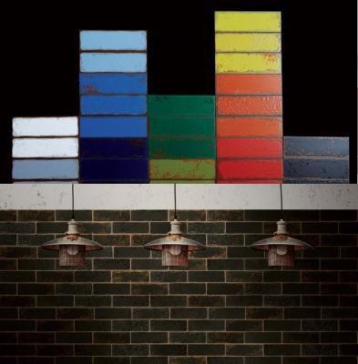Coloratissime piastrelle in stile underground della linea Urban di 14oraitaliana