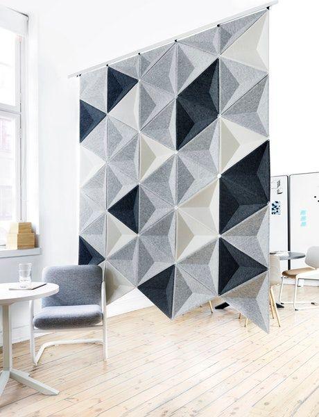 Pannello decorativo fonoassorbente Aircone di Abstracta