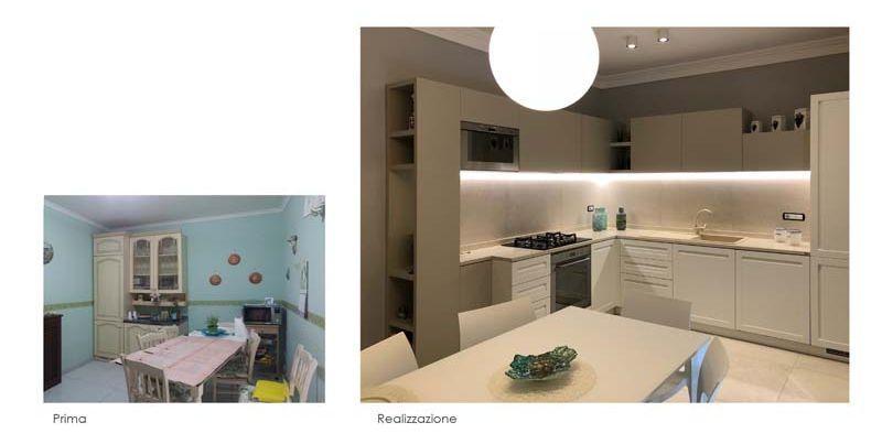 Ristrutturazione cucina: foto prima e dopo - Blu Space