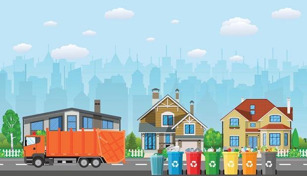 Bidoni per la raccolta differenziata e distanza dalle abitazioni