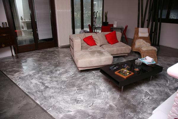Pavimento cemento Microtopping - Italcrips