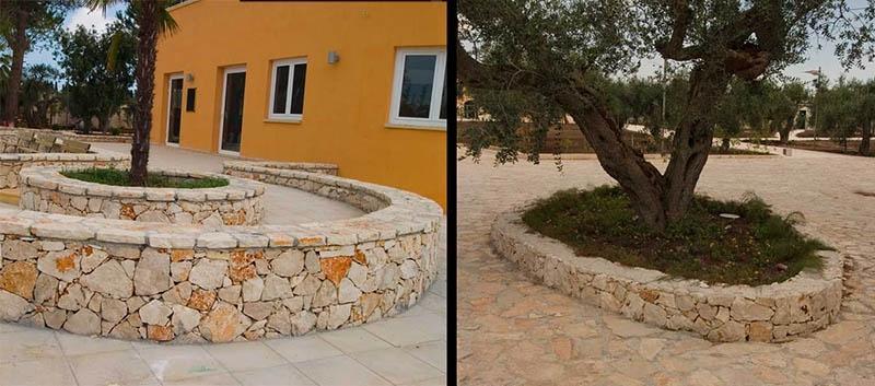 Bassi muretti a secco per aiuole e giardini, by Cacciatore Cosimo Group