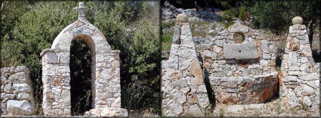 Elementi ornamentali in pietra da spacco by La Pietra Taurina arco e fontana da giardino