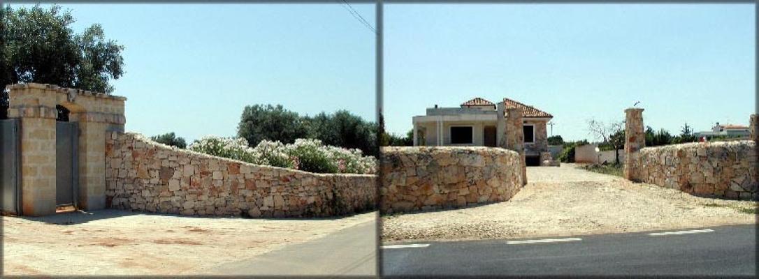 Recinzioni esterne con muri a secco de La Pietra Taurina