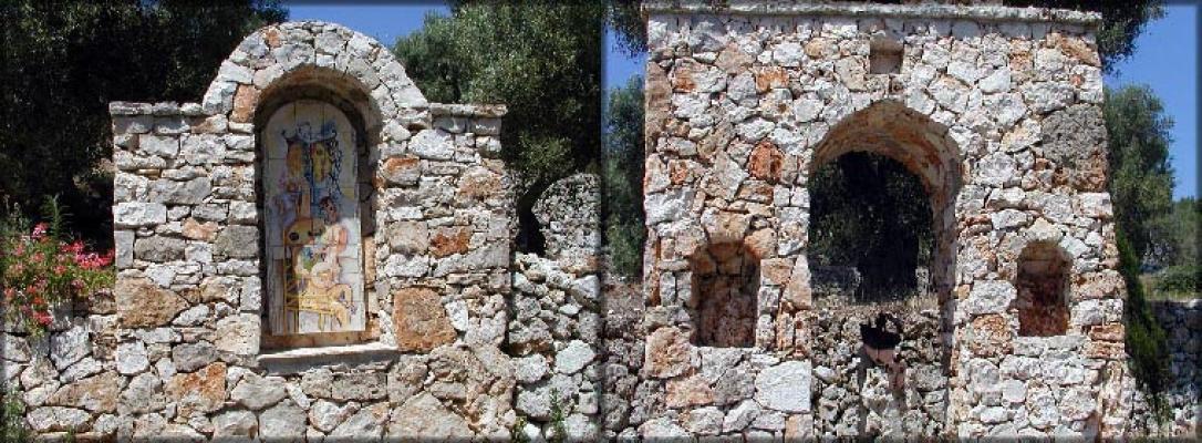 Strutture de La Pietra Taurina in muri a secco arco ed edicola votiva