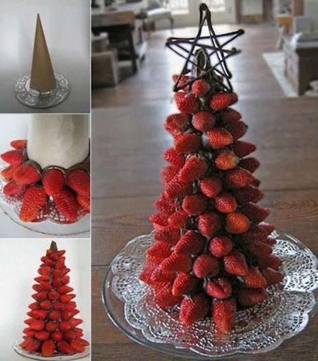 Albero di Natale con le fragole, da hmhome.ru