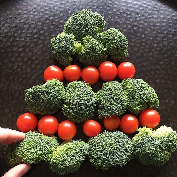 Albero di Natale con le verdure commestibile: composizione, da melaniecooks.com