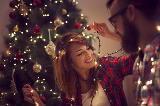 Decorazione con luci di Natale