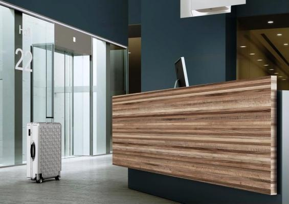 Banco reception Formica® Group Collection Woods