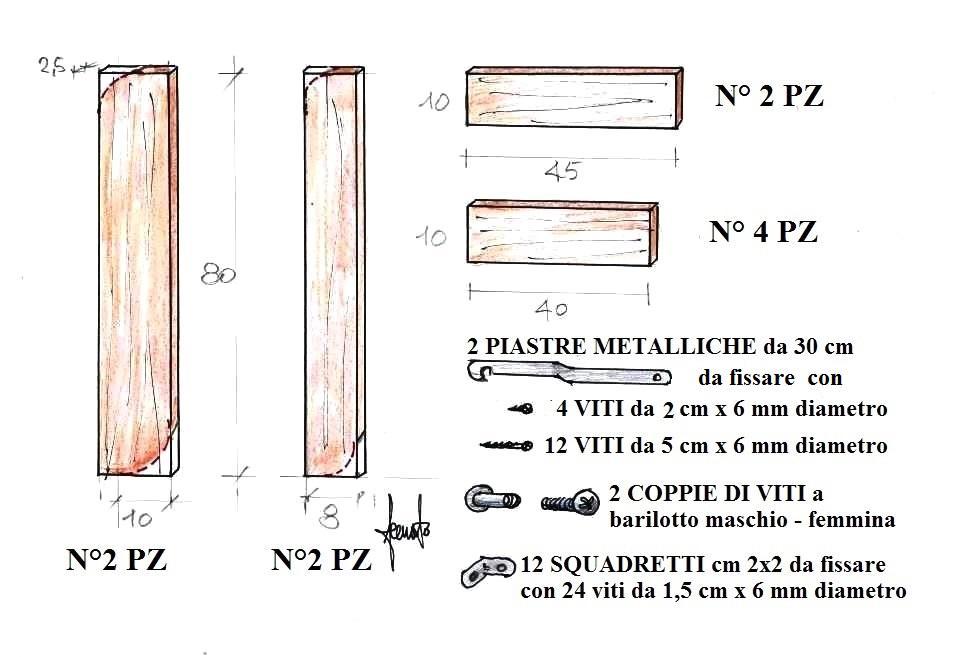 Materiali per realizzare scaletta in legno