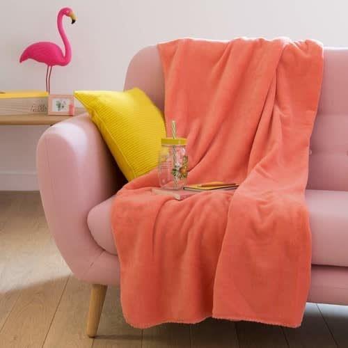 Pantone abbinamento coral e rosa, plaid Maisons du Monde
