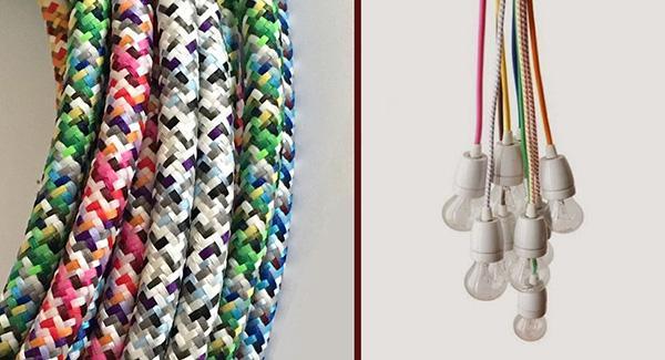 Cavi elettrici tessili decorativi di LaMorell