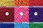 Cavi elettrici tessili in colori accesi per impianti vintage di LaMorell