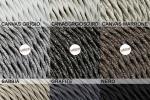 Cavi elettrici tessili in colori neutri per impianti vintage di LaMorell