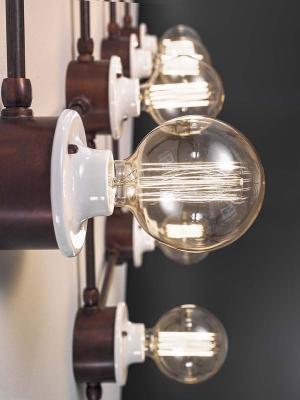 Sistema di illuminazione a vista in stile vintage by Aldo Bernardi