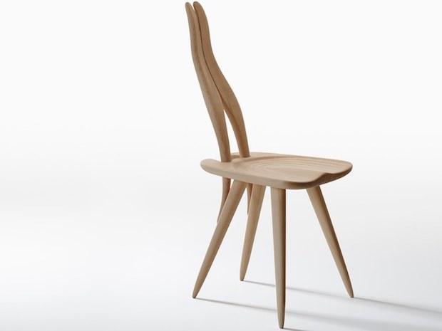 Sedia in legno grezzo, da Zanotta