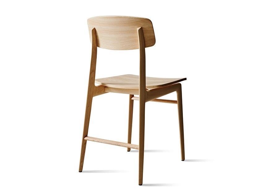 Sedia in legno massello naturale, da Molteni&Co