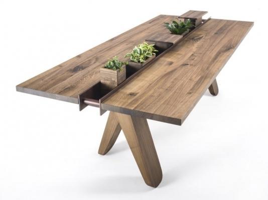 Tavolo rettangolare in legno massello, da Riva 1920