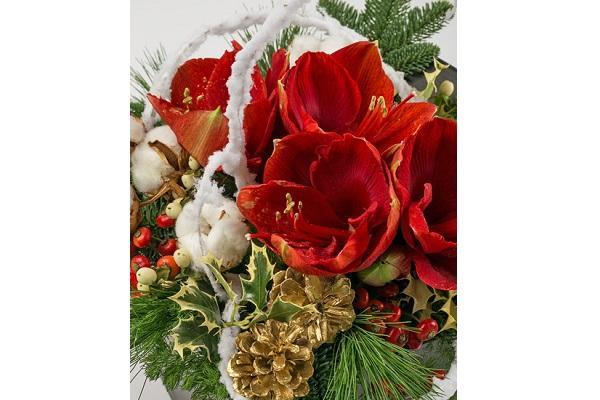 Dettaglio composizione natalizia Interflora