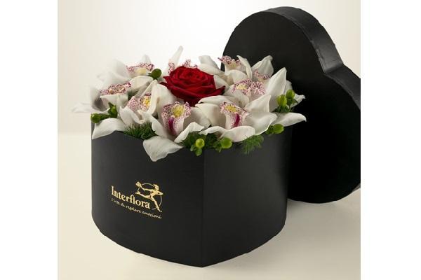 Composizione scatola natalizia Interflora