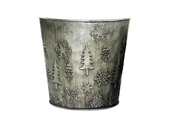 Vaso di latta con pattern natalizi di Flob
