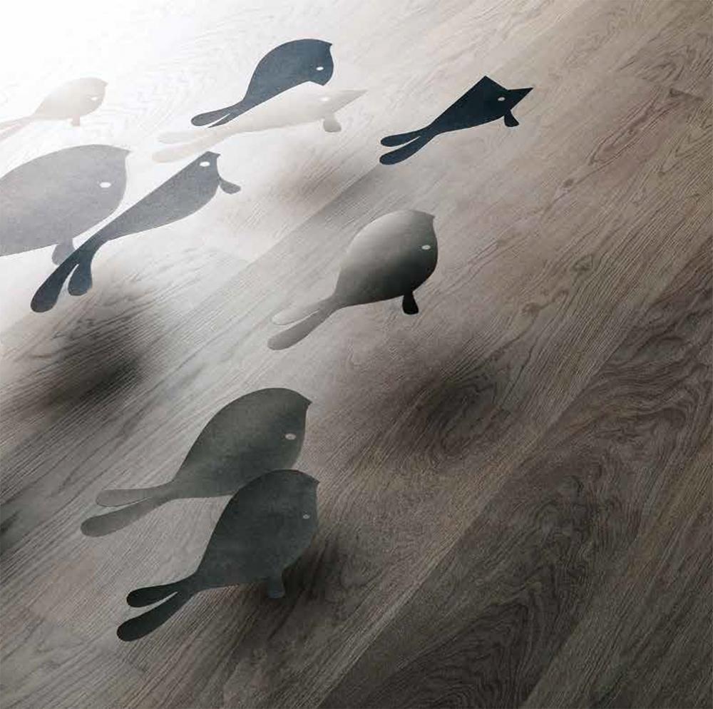 Parquet moderno in rovere grigio marino di Listone Giordano