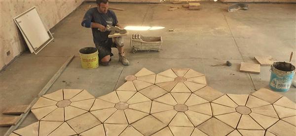 Posa di un pavimento tradizionale di cotto, by Fornace Stefani