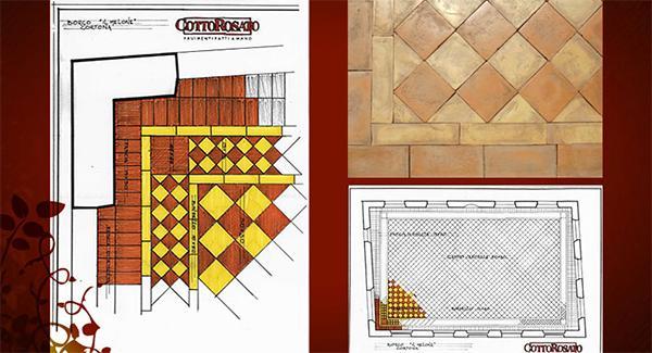 Progettazione di un pavimento in cotto, by Cotto Pievese