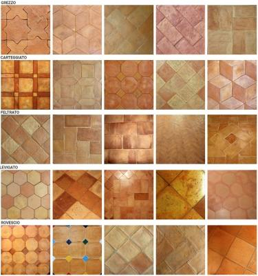 Finiture e disegni dei pavimenti di cotto artigianale di Cotto Stefani