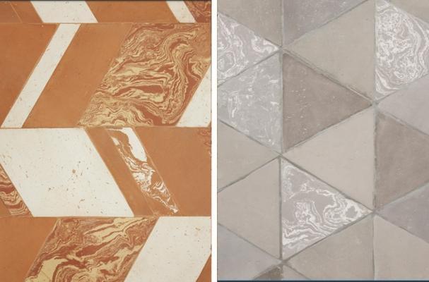 Pavimenti contemporanei di cotto della collezione Gonzaga della Fornace Brioni