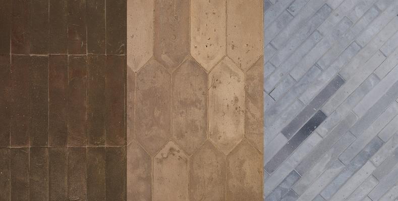 Pavimenti di cotto grigio della Fornace Brioni