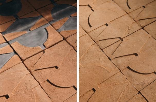 Rivestimento parietale in cotto contemporaneo Labirinto della Fornace Brioni