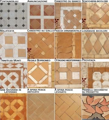 Tessiture dei pavimenti di cotto artigianale di Cotto Pievese