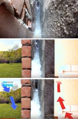 Coibentazione di un'intercapedine con Supafil Cavity Wall di Knauf