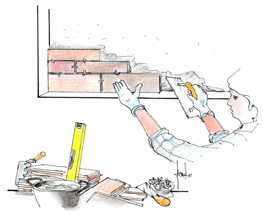 Rivestire una parete di mattoni