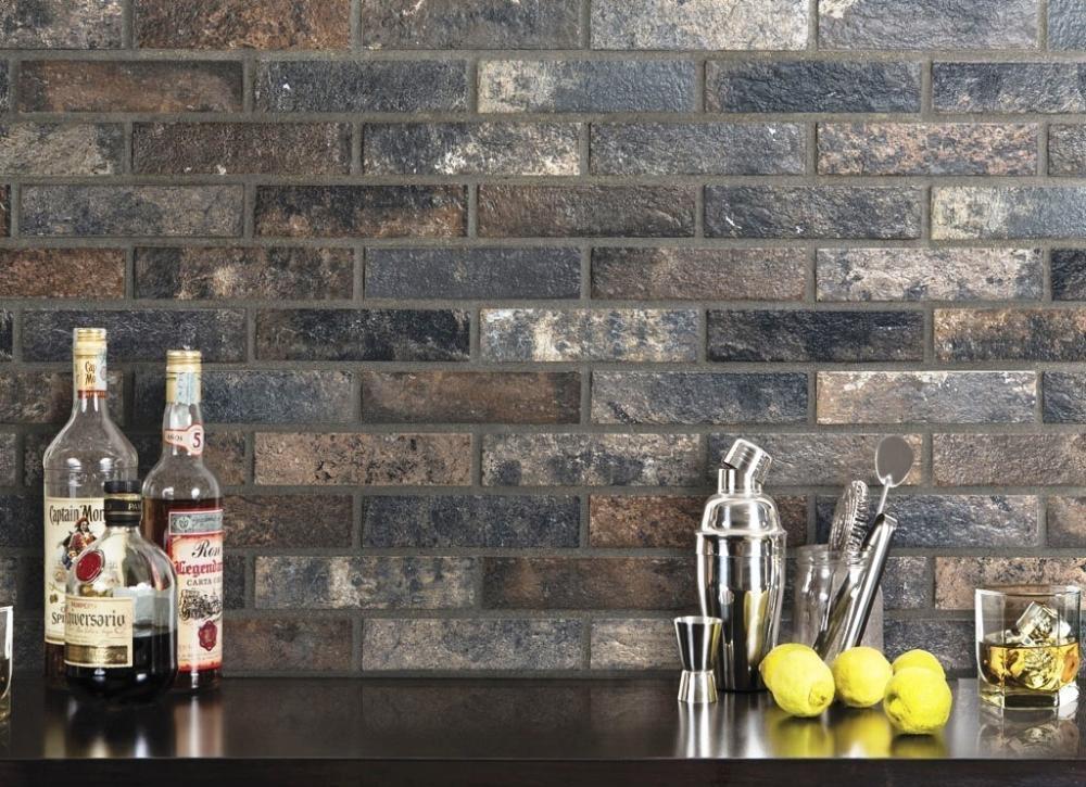 Parete a mattoncini Bristol Dark - Ceramica Rondine