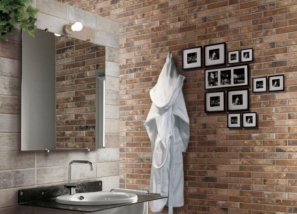 Rivestimento bagno con mattoni London Ceramica Rondine