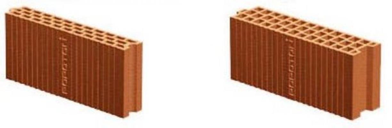 Mattoni per muri divisori in laterizio porizzato Poroton, spessore 8 e 12