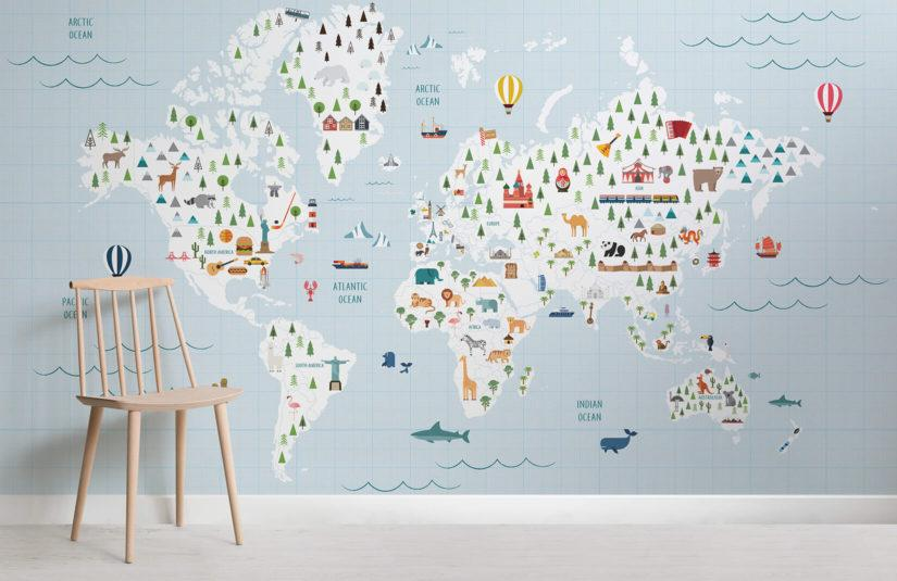 Carta da parati planisfero - Murals Wallpaper Intrepid