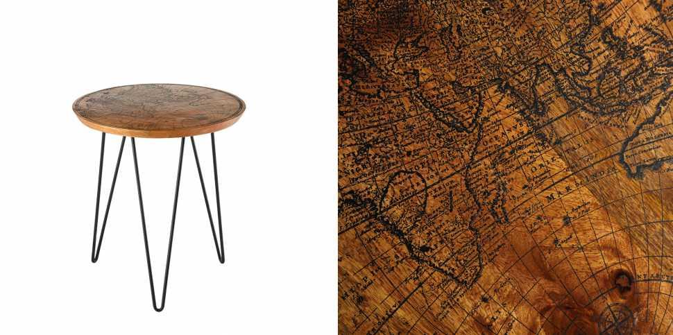 Oggetti con tema planisfero - tavolino Maison du Monde