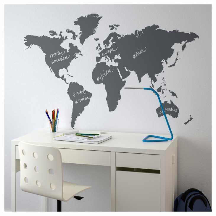 Planisfero adesivo - Ikea Klatta