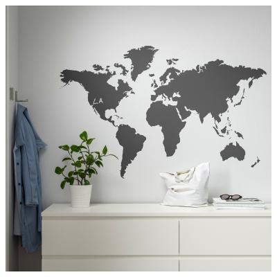 Planisfero adesivo effetto lavagna: Ikea - Klatta