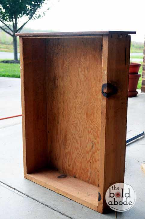 Trasformare i vecchi cassetti in organizer: parte 1, da theboldabode.com