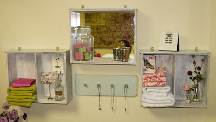 Contenitori, specchi e mensole: riciclo creativo con vecchi cassetti, dacasadecoraoartesecoisitasmais.blogspot.com
