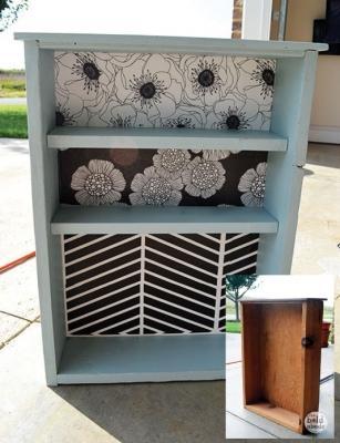 Trasformare i vecchi cassetti in organizer per il bagno, da theboldabode.com