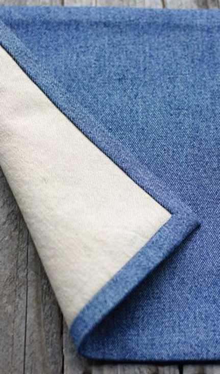 Riciclo jeans per realizzare delle tovagliette americane, da todaysnest.com